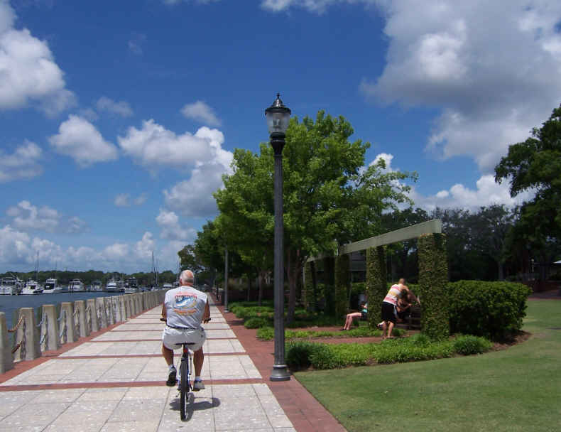 We've biked into town several times and enjoyed the waterfront.