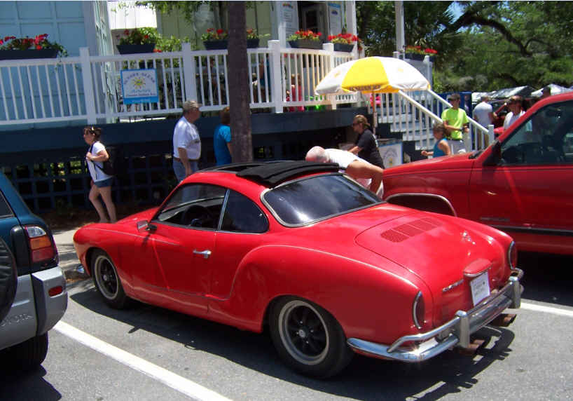As aways Dave was on the lookout for 'old cars'. Enjoyed checking out this red Ghia in St. Simons .