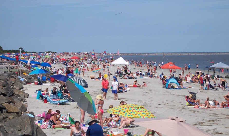 Beaches at St. Simon were packed on Memorial Day weekend.