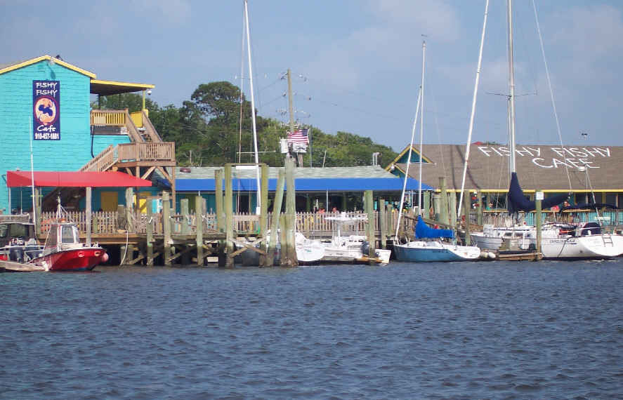 Lots Of Cute Little Restaurants Along The Southport Waterfront