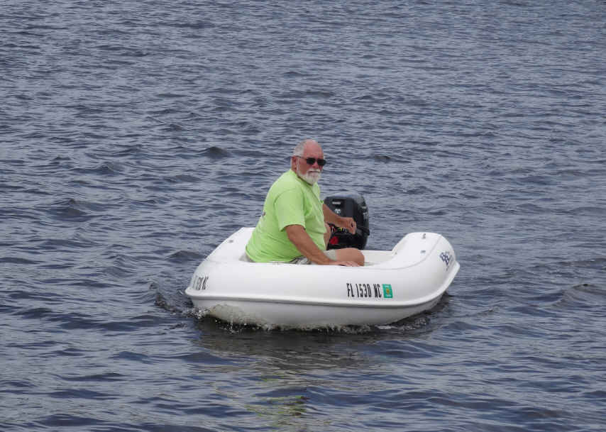 David got the Dingy down while we were in Belhaven